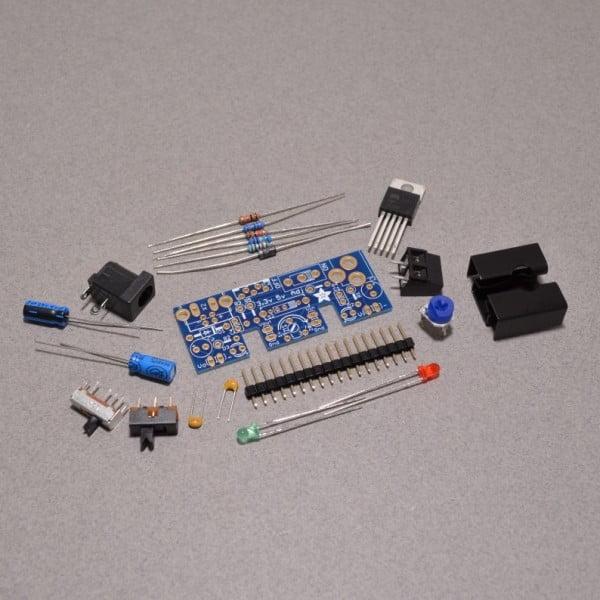 Adafruit adjustable breadboard power supply kit