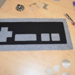 Plush game controller fabric laser cut out