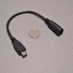 microUSB to 2.1mm DC Barrel adatper cable
