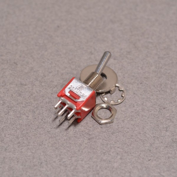 DPDT toggle switch - On/On with hardware